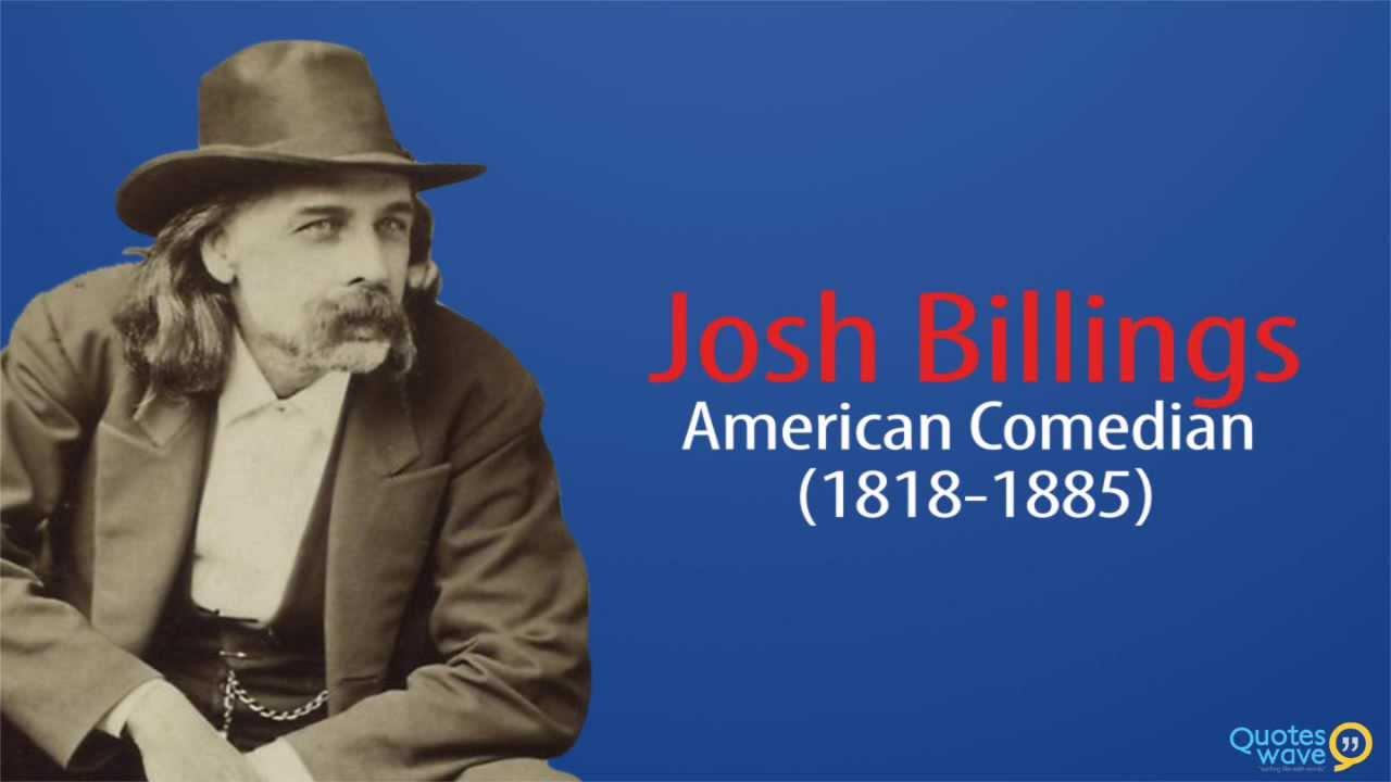 Josh Billings citater